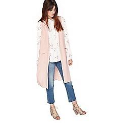Miss Selfridge - Nude sleeveless jacket