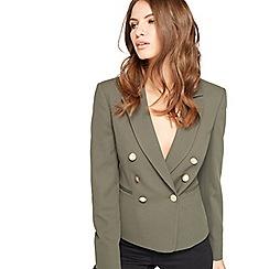 Miss Selfridge - Khaki military blazer