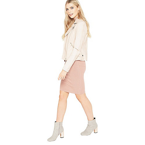 Miss Selfridge - Pink pu biker jacket