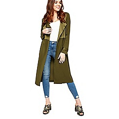 Miss Selfridge - Khaki matt and shine duster