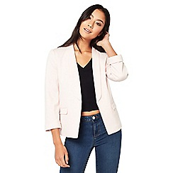 Miss Selfridge - Blush ponte blazer
