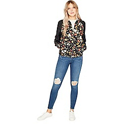 Miss Selfridge - Poppy print bomber jacket