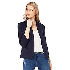 Miss Selfridge - Navy ponte blazer