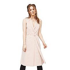 Miss Selfridge - Blush sleeveless duster