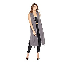 Miss Selfridge - Charcoal sleeveless duster