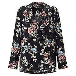 Miss Selfridge - Floral tux jacket