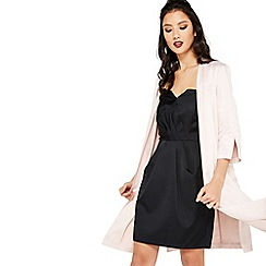 Miss Selfridge - Pink satin tie side kimono