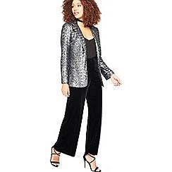 Miss Selfridge - Silver sequin jacket