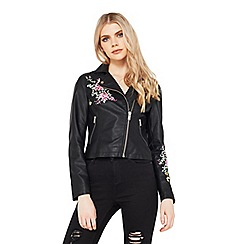 Miss Selfridge - Embroidered polyurethane jacket