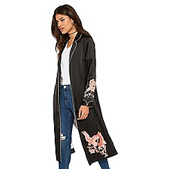 Miss Selfridge - Embroidered pyjama duster jacket