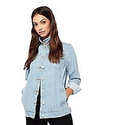 Miss Selfridge - Denim longline trucker jacket