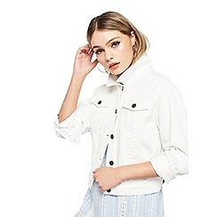 Miss Selfridge - White plain denim trucker jacket