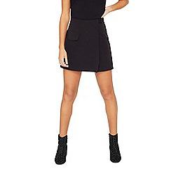 Miss Selfridge - Black d-ring pocket mini skirt