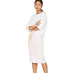Miss Selfridge - Irridecent sequin pencil skirt