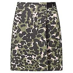 Miss Selfridge - Camo d-ring mini skirt