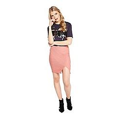 Miss Selfridge - Pink bandage skirt