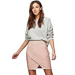 Miss Selfridge - Blush bandage wrap mini skirt
