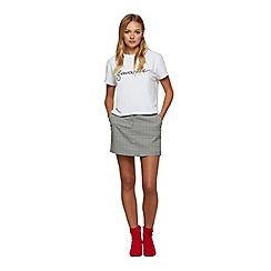 Miss Selfridge - Check A-line mini skirt