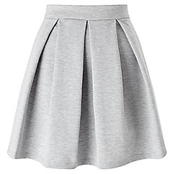 Miss Selfridge - Grey ponte skater skirt