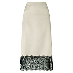Miss Selfridge - Grey lace trim lingerie skirt
