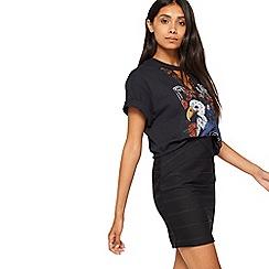Miss Selfridge - Black bandage skirt
