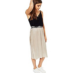 Miss Selfridge - Gold sporty plisse skirt