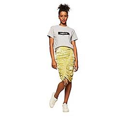 Miss Selfridge - Velvet ruched skirt