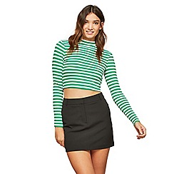 Miss Selfridge - Black mini skirt