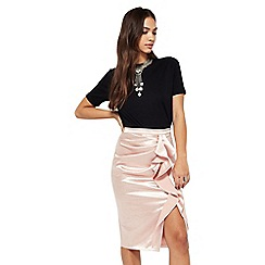 Miss Selfridge - Gold ruffle skirt