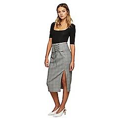 Miss Selfridge - Check corset pencil skirt