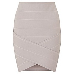 Miss Selfridge - Grey bandage mini skirt