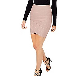 Miss Selfridge - Pink bandage skirt