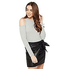 Miss Selfridge - Black wrap skirt