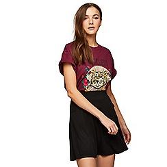Miss Selfridge - Black pocket flippy skirt