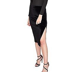 Miss Selfridge - Velvet split midi maxi skirt