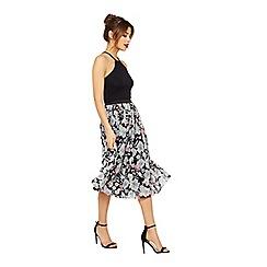 Miss Selfridge - Floral print tulle skirt