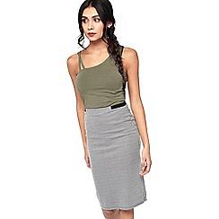 Miss Selfridge - Dogstooth pencil skirt