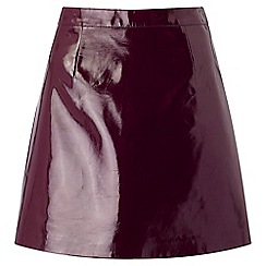 Miss Selfridge - Purple patent pu skirt