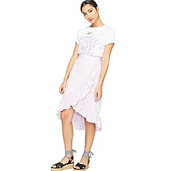 Miss Selfridge - Lilac midi skirt