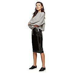 Miss Selfridge - Black vinyl pencil skirt