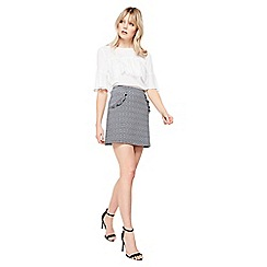 Miss Selfridge - Mono a line ruffle skirt