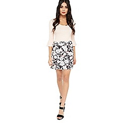 Miss Selfridge - Print a line ruffle skirt