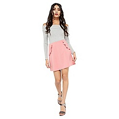 Miss Selfridge - Pink a line ruffle skirt