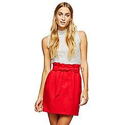 Miss Selfridge - Red paper bag skirt