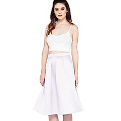 Miss Selfridge - Lilac co-ord satin midi skirt