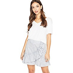 Miss Selfridge - Stripe poplin skirt