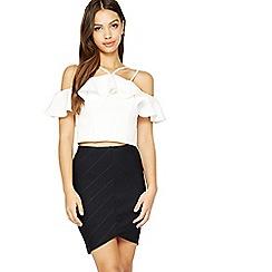 Miss Selfridge - Chevron bandge skirt