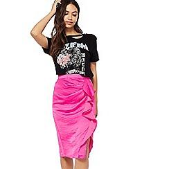 Miss Selfridge - Fuchsia ruffle skirt
