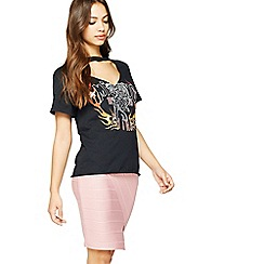 Miss Selfridge - Pink foil bandage skirt