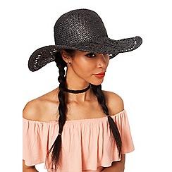 Miss Selfridge - Macrame floppy hat